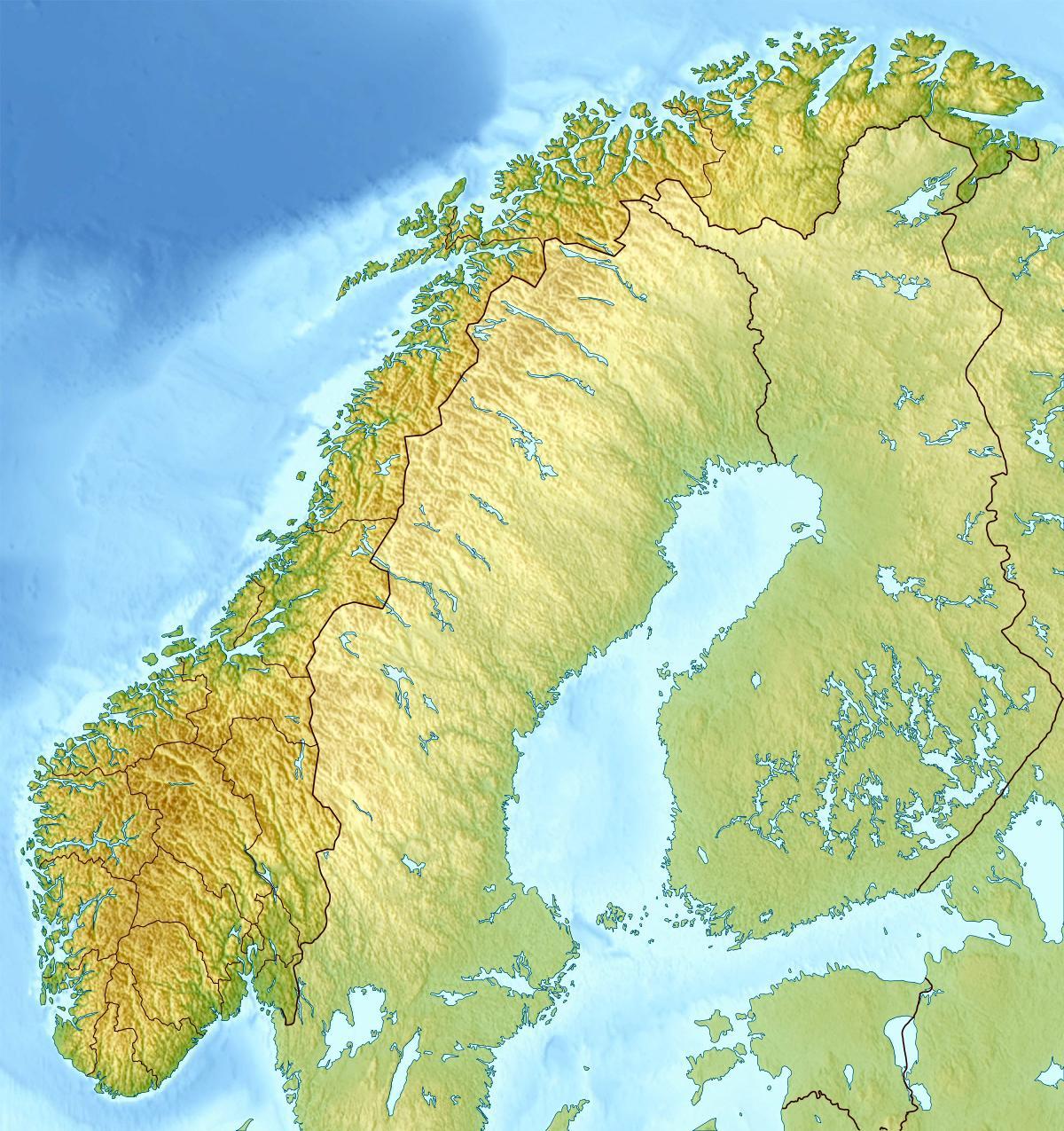 Topografisk Karta Norge Karta 2020