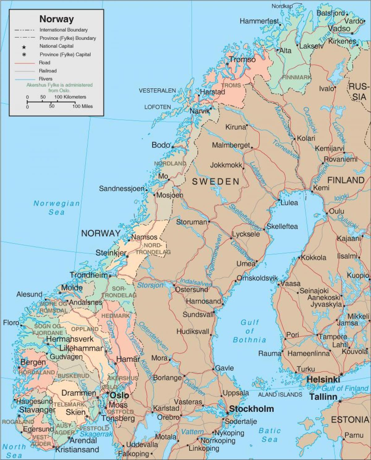 Karta Norra Norge Karta 2020