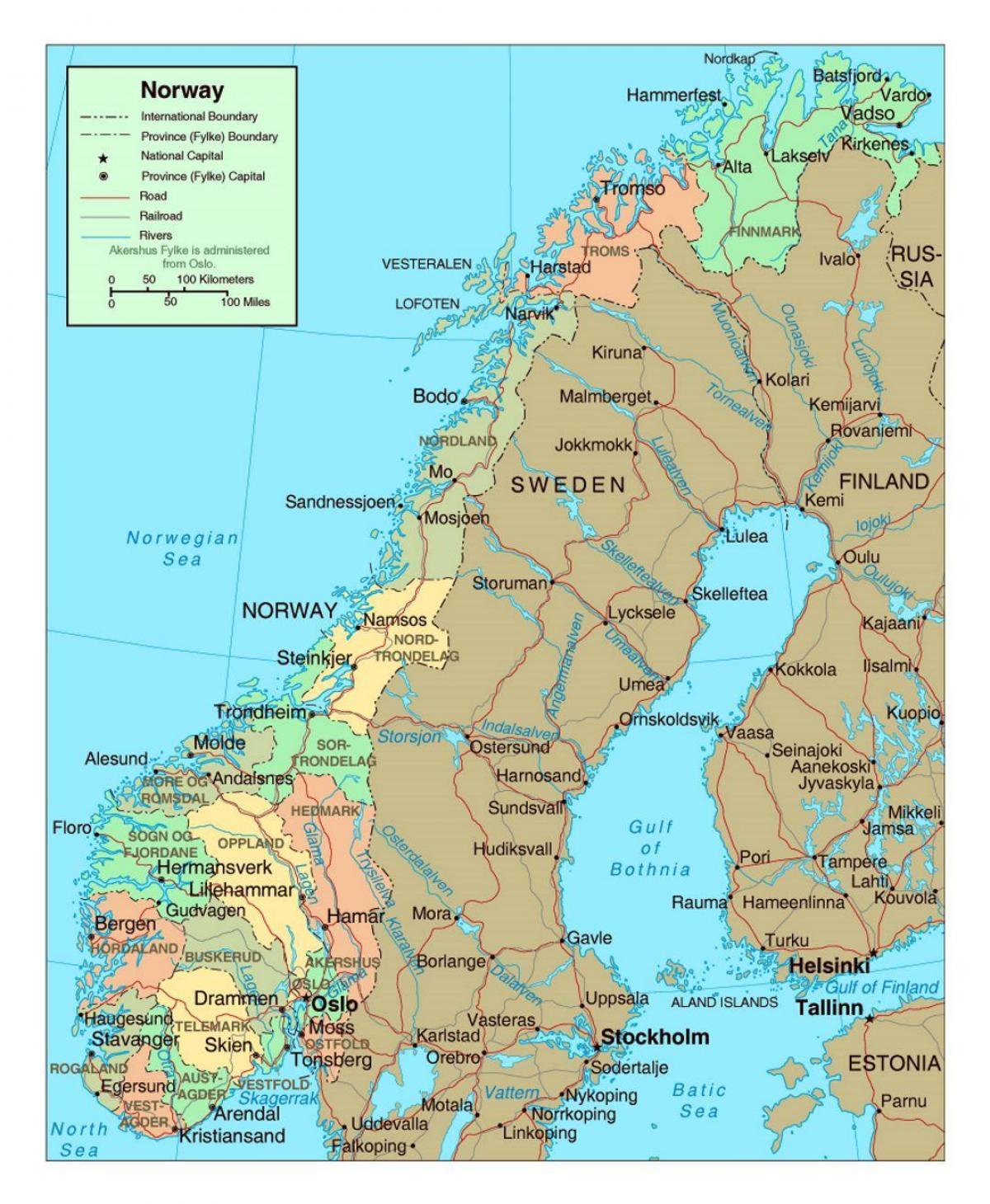 Karta Over Norra Norge Karta 2020