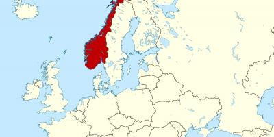 Karta Norge Stavanger.Norge Karta Kartor Norge Norra Europa Europa